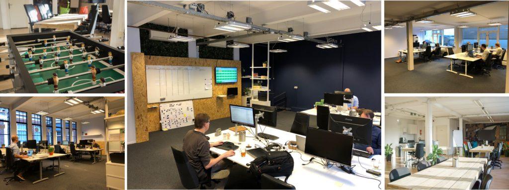 De verschillende werkruimtes van Marketing Makers in Utrecht